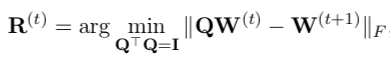 Procrustes optimal rotation equation
